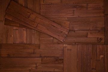 Wandpaneele selbstklebend aus Echtholz von Mywoodwall - Schöne Wandverkleidung - Java (braun), 100% FSC-zertifiziert und Umweltfreundlich, 1 Paket a 1,725m² - 1