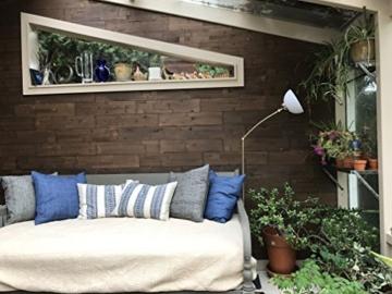 Wandpaneele selbstklebend aus Echtholz von Mywoodwall - Schöne Wandverkleidung - Java (braun), 100% FSC-zertifiziert und Umweltfreundlich, 1 Paket a 1,725m² - 6