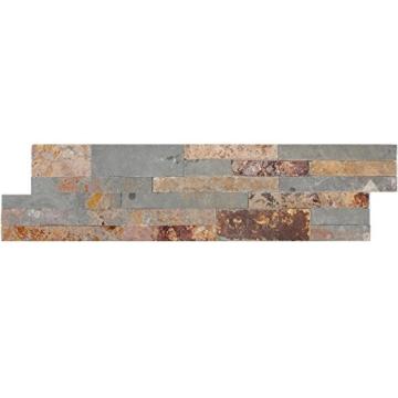 Wandverblender Belling Selbstklebend Gold Rustic   Wandfliesen   Selbstklebende-Fliesen   Schiefer   Fliesen-Bordüre   Ideal für die Küche und Badezimmer (auch als Muster erhältlich) - 3
