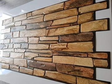 Wandverkleidung aus PVC in 3D-Optik, dekorative Wandpaneele aus Naturschiefer. - 2