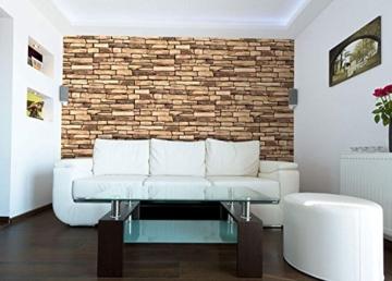 Wandverkleidung aus PVC in 3D-Optik, dekorative Wandpaneele aus Naturschiefer. - 5