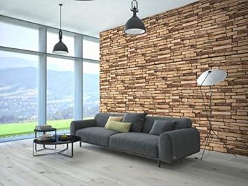 Wandverkleidung aus PVC in 3D-Optik, dekorative Wandpaneele aus Naturschiefer. - 6