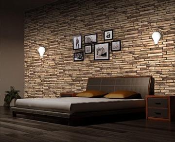 Wandverkleidung aus PVC in 3D-Optik, dekorative Wandpaneele aus Naturschiefer. - 7