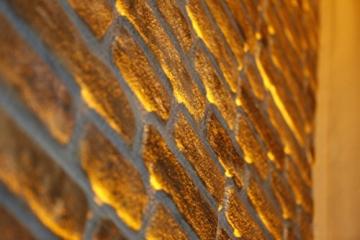 Wandverkleidung in Steinoptik für Schlafzimmer, Wohnzimmer, Küche und Terrasse in Klinkeroptik Look. (ST 351-119) - 2