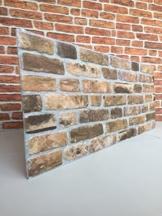 Wandverkleidung in Steinoptik für Schlafzimmer, Wohnzimmer, Küche und Terrasse in Klinkeroptik Look. (ST 351-119) - 1