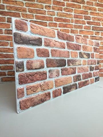 Wandverkleidung in Steinoptik für Schlafzimmer, Wohnzimmer, Küche und Terrasse in Klinkeroptik Look. (ST 351-111) - 1