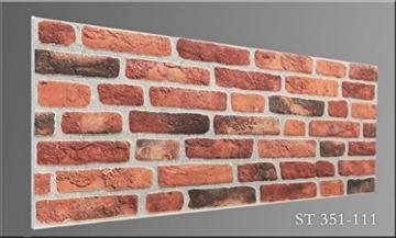 Wandverkleidung in Steinoptik für Schlafzimmer, Wohnzimmer, Küche und Terrasse in Klinkeroptik Look. (ST 351-111) - 6