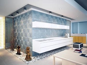 Wandverkleidung Wanddeko 3d Ripple für Innenwände, 100% umweltfreundlich aus Bambus, 12Paneele 50x 50cm = 3m2 - 2