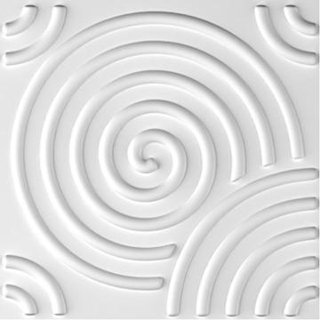 Wandverkleidung Wanddeko 3d Ripple für Innenwände, 100% umweltfreundlich aus Bambus, 12Paneele 50x 50cm = 3m2 - 3