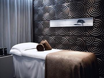 Wandverkleidung Wanddeko 3d Ripple für Innenwände, 100% umweltfreundlich aus Bambus, 12Paneele 50x 50cm = 3m2 - 1