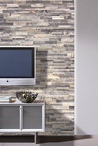wodewa Holz Wandverkleidung Vintage Optik I 1m² Nachhaltige Echtholz Wandpaneele Moderne Wanddekoration Holzverkleidung Holzwand Wohnzimmer Küche Schlafzimmer V006 - 3