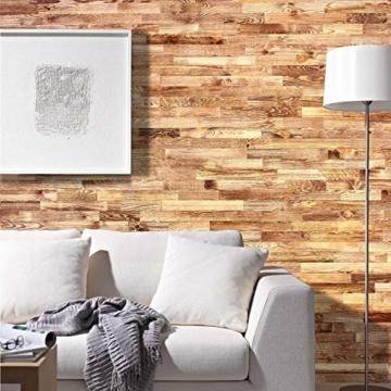 wodewa Holz Wandverkleidung Vintage Optik I 1m² Nachhaltige Echtholz Wandpaneele Moderne Wanddekoration Holzverkleidung Holzwand Wohnzimmer Küche Schlafzimmer V002 - 2