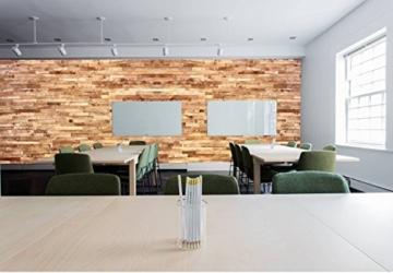 wodewa Holz Wandverkleidung Vintage Optik I 1m² Nachhaltige Echtholz Wandpaneele Moderne Wanddekoration Holzverkleidung Holzwand Wohnzimmer Küche Schlafzimmer V002 - 3