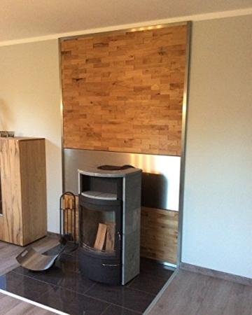 wodewa Wandverkleidung Holz 3D Optik I Eiche Rustikal I 1m² Wandpaneele Moderne Wanddekoration Holzverkleidung Holzwand Wohnzimmer Küche Schlafzimmer I Geölt - 2