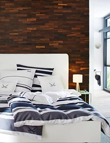 wodewa Wandverkleidung Holz 3D Optik I Eiche Tabak I 1m² Wandpaneele Moderne Wanddekoration Holzverkleidung Holzwand Wohnzimmer Küche Schlafzimmer - 2