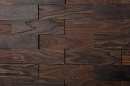 wodewa Wandverkleidung Holz 3D Optik I Eiche Tabak I 1m² Wandpaneele Moderne Wanddekoration Holzverkleidung Holzwand Wohnzimmer Küche Schlafzimmer - 1