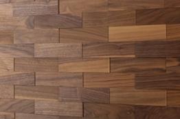 wodewa Wandverkleidung Holz 3D Optik I Nussbaum I 1m² Wandpaneele Moderne Wanddekoration Holzverkleidung Holzwand Wohnzimmer Küche Schlafzimmer I Geölt - 1