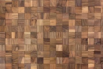 wodewa Wandverkleidung Holz 3D Optik I Nussbaum I 30x30cm Netz Wandpaneele Moderne Wanddekoration Holzverkleidung Holzwand Wohnzimmer Küche Schlafzimmer - 4