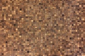 wodewa Wandverkleidung Holz 3D Optik I Nussbaum I 30x30cm Netz Wandpaneele Moderne Wanddekoration Holzverkleidung Holzwand Wohnzimmer Küche Schlafzimmer - 6