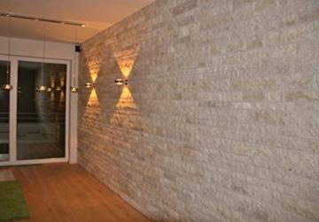 Wohnrausch W3DC Travertin Crema 3D Wandverkleidung, hell- bis dunkelbeige - 1