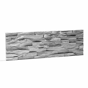 EPS-Schaumstoff Verblendstein UltraLight - Benevento/Wanddekoration/Fliesen/Verblendstein/Wandplatten (Grau) - 4