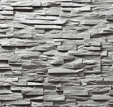 EPS-Schaumstoff Verblendstein UltraLight - Benevento/Wanddekoration/Fliesen/Verblendstein/Wandplatten (Grau) - 1